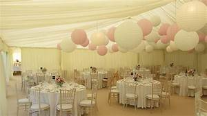 Beautiful pink and white paper lantern canopy Hanging