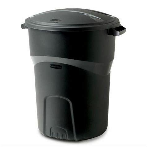 rubbermaid  gallon outdoor roughneck trash  black