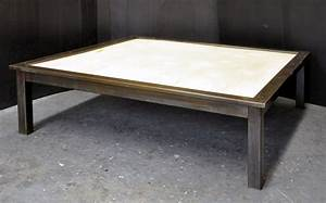 dorset custom furniture a woodworkers photo journal a With metal and stone coffee table
