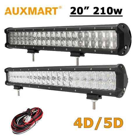 auxmart 20 inch led light bar 210w cree chips 20 quot led work