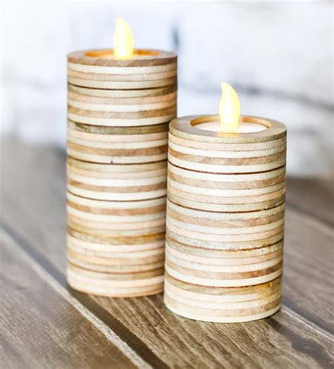 clever diy candle holders    beautiful