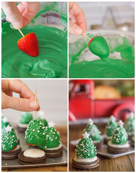 chocolate covered strawberry christmas trees diy craft