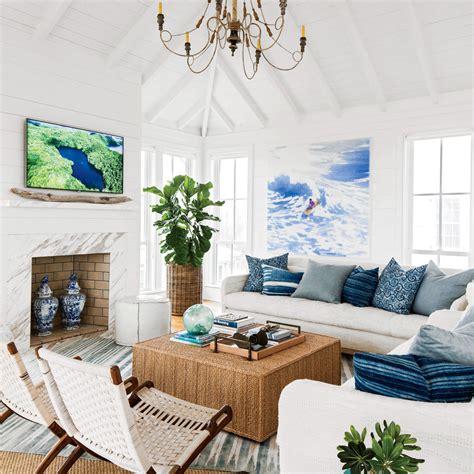 shiplap wall ideas  beach house rooms coastal living