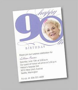 marvelous 90th birthday party invitations which is With 90th birthday invites templates
