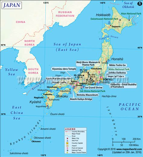 japan map map  japan