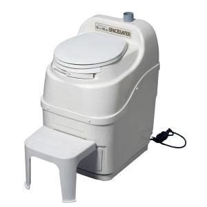 sun mar spacesaver electric waterless self contained composting toilet in white spacesaver