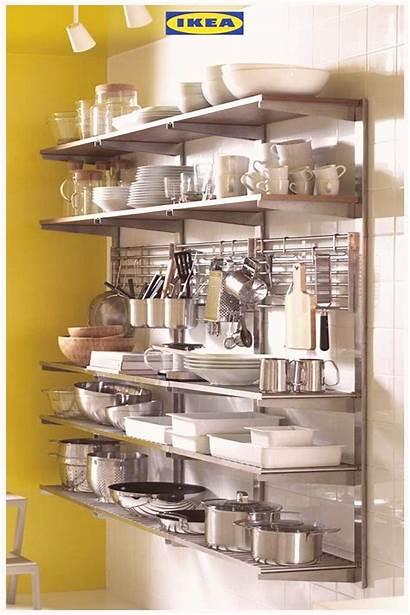 Shelves Kitchen Ikea Open Finish Interior Comprised