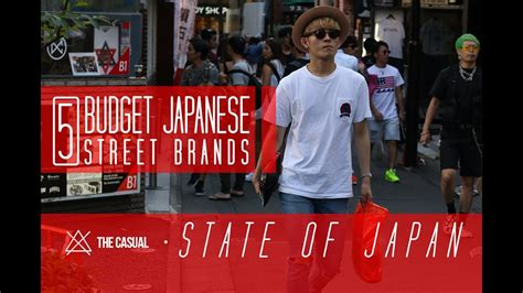 5 Budget Friendly Japanese Street Brands  State Of Japan