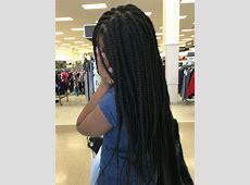 Medium size box braids waist length Xpression Ultra