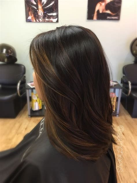 Black Hair Brown by Balayage For Hair Brown Highlights For Black Hair