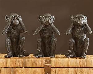 Statue Singe De La Sagesse : singes de la sagesse set de 3 becquet ~ Teatrodelosmanantiales.com Idées de Décoration