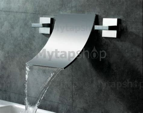 Waterfall Widespread Contemporary Bathroom Sink Tap