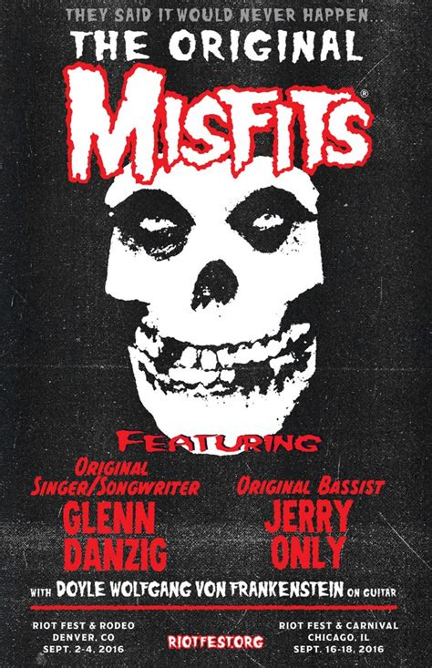 The Original Misfits Reuniting for Riot Fest in Chicago ...