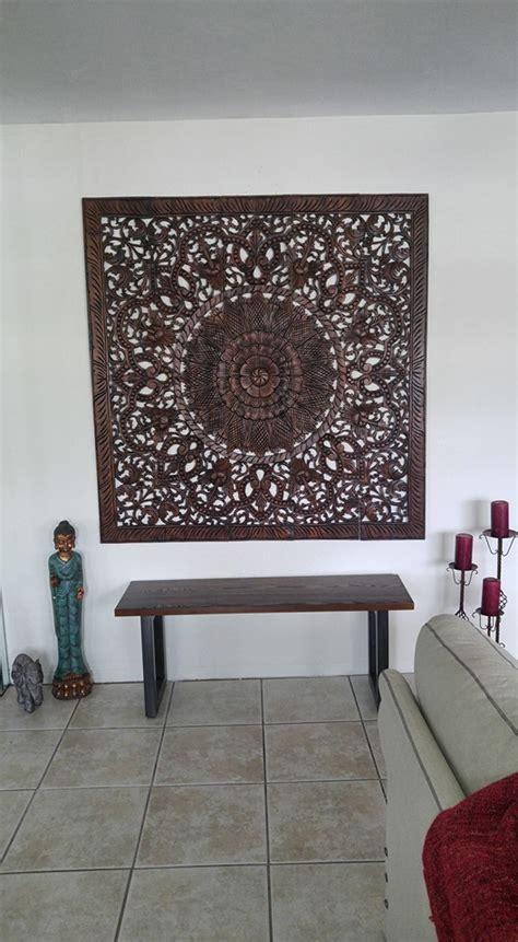 buy carved wall hanging mandala wood panel