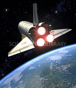 Earth-orbiting Space Shuttle - Stock Image S540/0791 ...