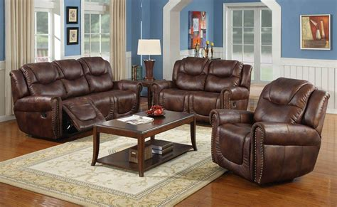 Leather Reclining Sofa Set by Reclining Sofa Sets Leather Contour Espresso Brown