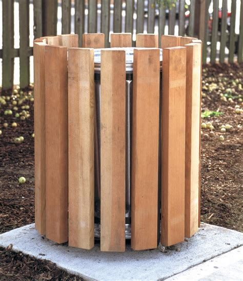 awesome outdoor garbage can design with steel trash