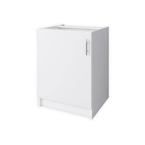 meuble cuisine 60 cm obi meuble bas de cuisine 1 porte 60 cm blanc mat