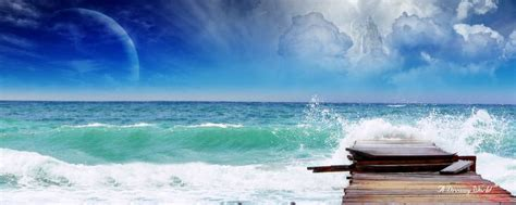 dual screen wallpapers sea screen picture