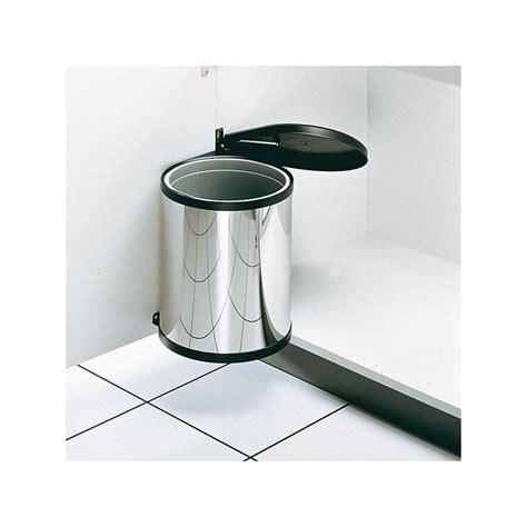 poubelle cuisine encastrable poubelle ronde en inox 1 bac 12 litres ilovedetails