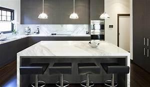 Cuisine En Marbre : id es d coration de cuisines et de salles de bain en marbre ~ Melissatoandfro.com Idées de Décoration