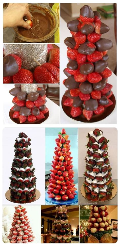 diy chocolate covered strawberry trees pictures