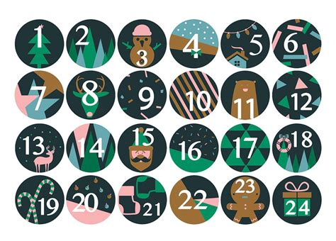 24 chiffres autocollants pour calendrier de l avent achat vente calendrier de l avent