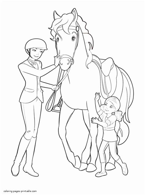 barbie   sisters   pony tale coloring pages  coloring pages printablecom