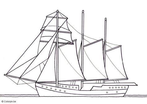 dibujo  colorear velero  tres mastiles img