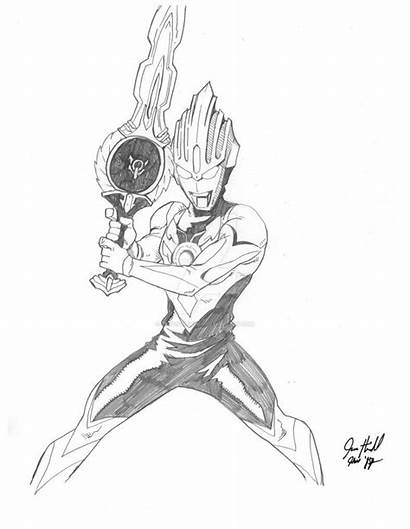 Ultraman Mewarnai Gambar Orb Geed Contoh Mewarna