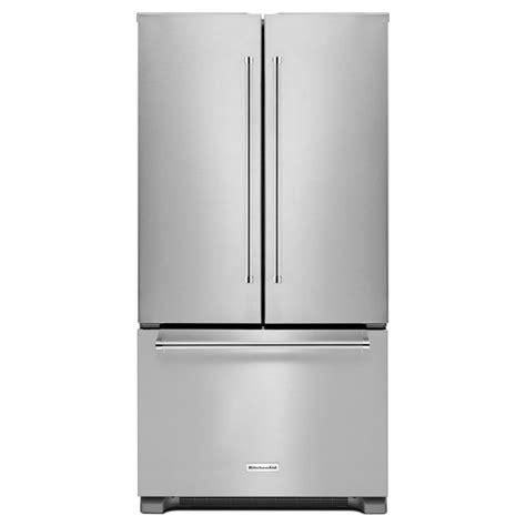 Cabinet Depth Door Refrigerator Stainless by Shop Kitchenaid 21 9 Cu Ft 3 Door Counter Depth