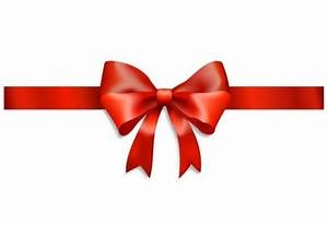 Shiny Red Ribbon & Bow Gift Vector Graphic - WeLoveSoLo