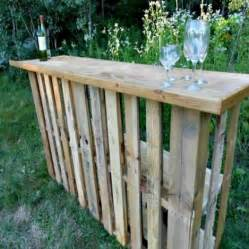 Outdoor Bar From Pallets