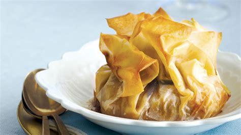 baluchons de p 226 te phyllo aux pommes et au dulce de leche caramel p 226 te phyllo recette facile