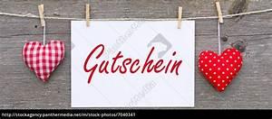 Gutschein Bild Shop : gutschein mit herzen lizenzfreies bild 7040341 bildagentur panthermedia ~ Buech-reservation.com Haus und Dekorationen