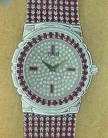 womens piaget tanagra diamond ruby white gold