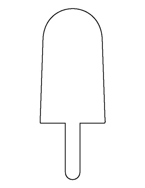 popsicle template popsicle pattern use the printable outline for crafts creating stencils scrapbooking and
