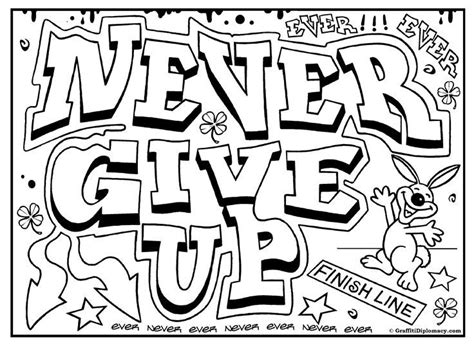 graffiti coloring page  printables  kids  color