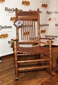 a rocking chair designed by alan jackson is displayed at