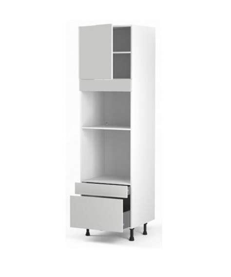 colonne four cuisine colonne four micro ondes 1porte et 2 tiroirs meubles de