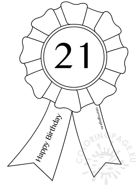 st birthday award ribbon template coloring page