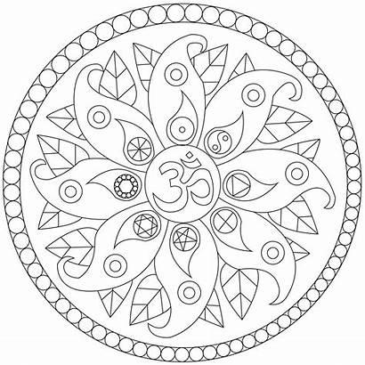 Mandala Simple Symbols Coloring Mandalas Easy Yang