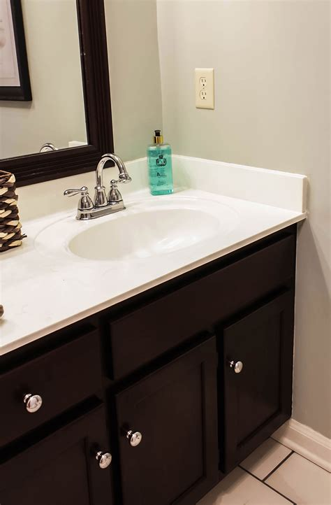 paint cultured marble countertops diy tutorial