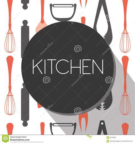 outil de conception cuisine outil de cuisine illustration de vecteur image 60766581