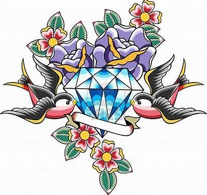 Tattoo Traditional Tattoos Designs Diamond Dagger Wings