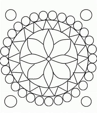 Coloring Mosaic Pages Patterns Designs 3d Geometric