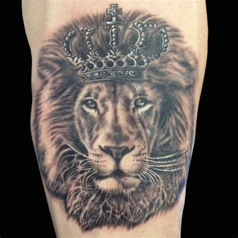 Lion With Crown Tattoo  Crown Tattoos Tattoos