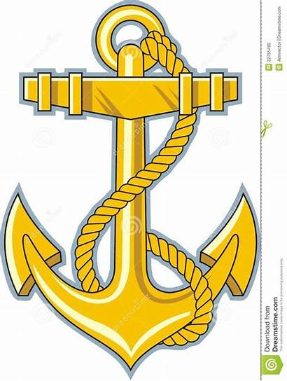 Anchor Gold Rope Clipart Navy Vector Tattoo