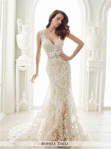 Y21656 fellini sophia tolli wedding dress for Stretch lace wedding dress