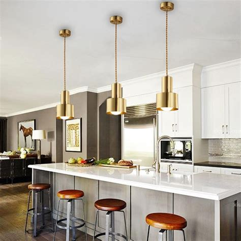 lukloy copper pendant light dining room kitchen island led